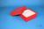BRAVO Box 50 / 1x1 ohne Facheinteilung, rot, Höhe 50 mm, Karton standard....