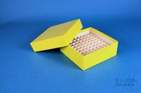 BRAVO Box 50 / 9x9 divider, yellow, height 50 mm, fiberboard special. BRAVO...