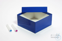 BRAVO Box 75 / 1x1 without divider, blue, height 75 mm, fiberboard standard....
