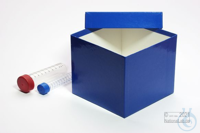 BRAVO Box 130 / 1x1 without divider, blue, height 130 mm, fiberboard special....