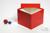 BRAVO Box 130 / 1x1 ohne Facheinteilung, rot, Höhe 130 mm, Karton standard....