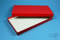 BRAVO Box 25 long2 / 1x1 without divider, red, height 25 mm, fiberboard...