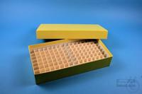 BRAVO Box 50 long2 / 10x20 divider, yellow, height 50 mm, fiberboard...
