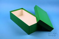 BRAVO Box 75 long2 / 1x1 without divider, green, height 75 mm, fiberboard...