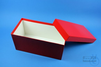 BRAVO Box 130 long2 / 1x1 without divider, red, height 130 mm, fiberboard...