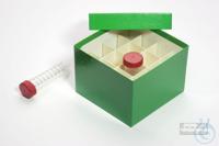 CellBox Maxi / 4x4 divider, green, height 128 mm, fiberboard standard....