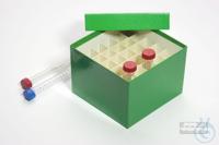 CellBox Maxi / 6x6 divider, green, height 128 mm, fiberboard standard....