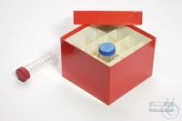CellBox Maxi / 4x4 divider, red, height 128 mm, fiberboard standard. CellBox...