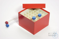 CellBox Maxi / 6x6 divider, red, height 128 mm, fiberboard standard. CellBox...