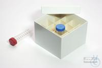 CellBox Maxi / 4x4 divider, white, height 128 mm, fiberboard standard....