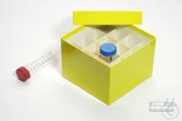 CellBox Maxi / 4x4 divider, yellow, height 128 mm, fiberboard standard....