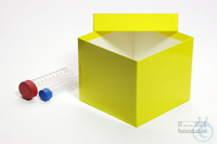 CellBox Maxi / 1x1 without divider, yellow, height 128 mm, fiberboard...