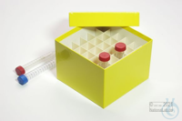 CellBox Maxi / 6x6 divider, yellow, height 128 mm, fiberboard special....