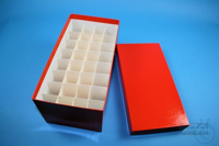 CellBox Maxi long / 4x8 divider, red, height 128 mm, fiberboard special....