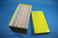 CellBox Maxi long / 4x8 divider, yellow, height 128 mm, fiberboard standard....