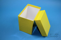 CellBox Maxi long / 1x1 without divider, yellow, height 128 mm, fiberboard...