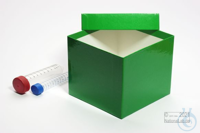 CellBox Mini / 1x1 without divider, green, height 128 mm, fiberboard...