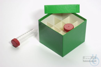 CellBox Mini / 3x3 divider, green, height 128 mm, fiberboard special. CellBox...