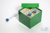 CellBox Mini / 5x5 divider, green, height 128 mm, fiberboard special. CellBox...
