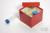 CellBox Mini / 3x3 Fächer, rot, Höhe 128 mm, Karton standard. CellBox Mini /...