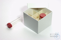 CellBox Mini / 3x3 divider, white, height 128 mm, fiberboard standard....