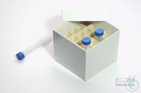 CellBox Mini / 5x5 divider, white, height 128 mm, fiberboard standard....