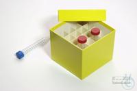 CellBox Mini / 5x5 divider, yellow, height 128 mm, fiberboard standard....