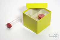 CellBox Mini / 3x3 divider, yellow, height 128 mm, fiberboard special....