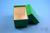 CellBox Mini lang / 1x1 ohne Facheinteilung, grün, Höhe 128 mm, Karton...