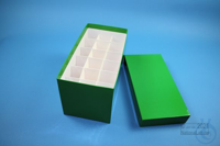 CellBox Mini long / 3x6 divider, green, height 128 mm, fiberboard special....