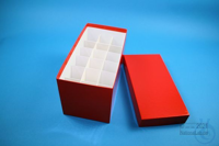CellBox Mini long / 3x6 divider, red, height 128 mm, fiberboard special....