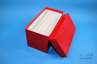 CellBox Mini long / 5x10 divider, red, height 128 mm, fiberboard special....