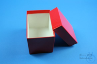 CellBox Mini long / 1x1 without divider, red, height 128 mm, fiberboard...