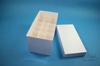 CellBox Mini long / 3x6 divider, white, height 128 mm, fiberboard standard....
