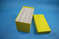 CellBox Mini long / 3x6 divider, yellow, height 128 mm, fiberboard special....