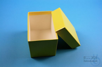 CellBox Mini long / 1x1 without divider, yellow, height 128 mm, fiberboard...