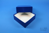 DELTA Box 50 / 1x1 without divider, blue, height 50 mm, fiberboard special....