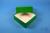 DELTA Box 50 / 1x1 ohne Facheinteilung, grün, Höhe 50 mm, Karton standard....