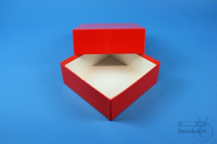 DELTA Box 50 / 1x1 without divider, red, height 50 mm, fiberboard standard....