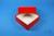DELTA Box 50 / 1x1 ohne Facheinteilung, rot, Höhe 50 mm, Karton standard....