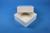 DELTA Box 50 / 1x1 ohne Facheinteilung, weiss, Höhe 50 mm, Karton standard....
