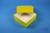 DELTA Box 50 / 1x1 ohne Facheinteilung, gelb, Höhe 50 mm, Karton standard....