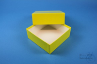 DELTA Box 50 / 1x1 without divider, yellow, height 50 mm, fiberboard special....