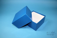 DELTA Box 75 / 1x1 without divider, blue, height 75 mm, fiberboard standard....