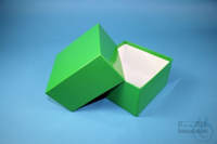 DELTA Box 75 / 1x1 without divider, green, height 75 mm, fiberboard standard....