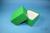 DELTA Box 75 / 1x1 ohne Facheinteilung, grün, Höhe 75 mm, Karton standard....