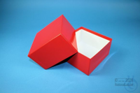 DELTA Box 75 / 1x1 without divider, red, height 75 mm, fiberboard standard....