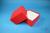 DELTA Box 75 / 1x1 ohne Facheinteilung, rot, Höhe 75 mm, Karton standard....