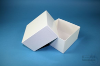 DELTA Box 75 / 1x1 without divider, white, height 75 mm, fiberboard standard....
