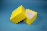 DELTA Box 75 / 1x1 without divider, yellow, height 75 mm, fiberboard...